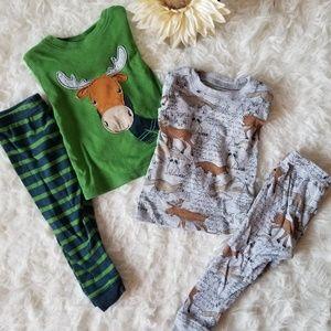Carters Baby Boys Woodland 12-18M Pajama Set
